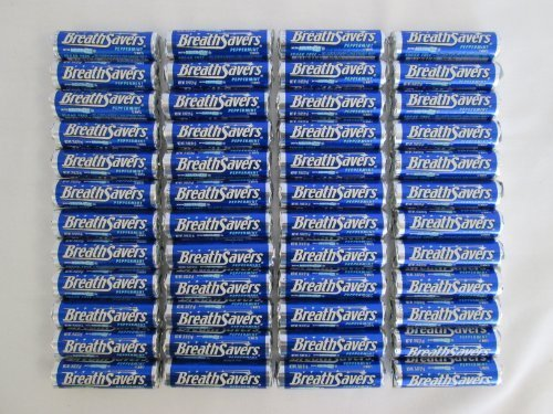 Breathsavers Peppermint Rolled mints, 12 per roll (Pack of 48) by Breath Savers