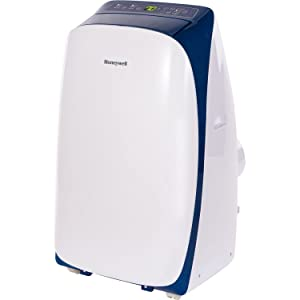 Honeywell Contempo Series, Dehumidifier & Fan with Dual Filtration System for Rooms Up to 450 Sq. Ft, Polished & Powerful (Blue/White) Portable Air Conditioner 10,000 BTU/450