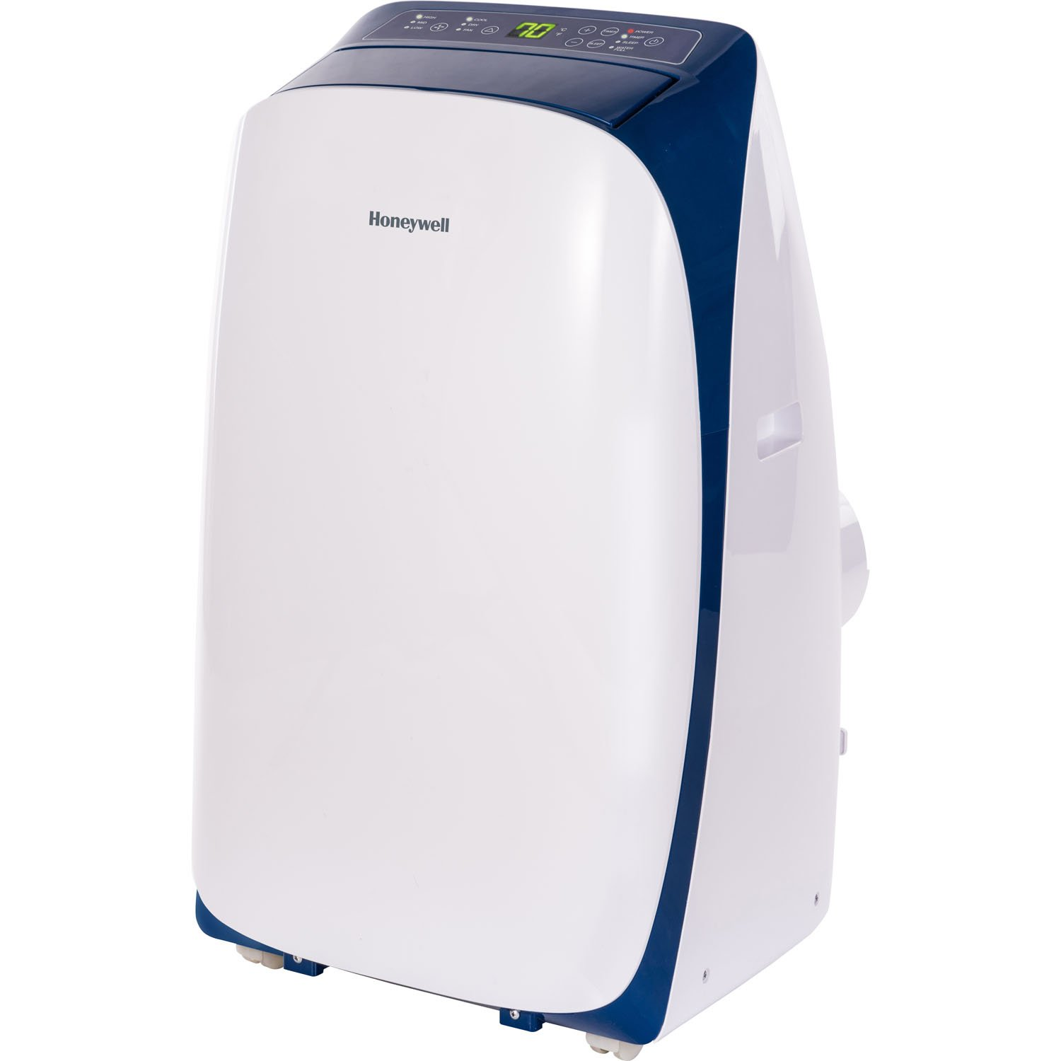 Honeywell Contempo Series Portable Air Conditioner, Dehumidifier & Fan with Dual Filtration System for Rooms Up To 550 Sq. Ft. Polished & Powerful (Blue/White)