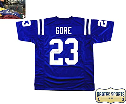 4e2884dd80d Frank Gore Autographed/Signed Indianapolis Custom Blue Jersey at Amazon's  Sports Collectibles Store