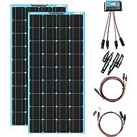 XINPUGUANG 200W kit de Panel Solar 2pcs 100w módulo monocristalino flexible 20A controlador para automóvil…