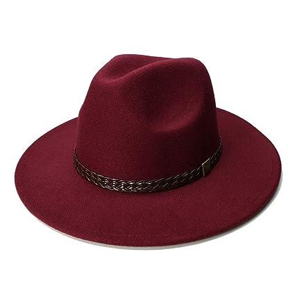 Sombreros Sombrero de Lana Sombreros de Jazz Gran ala Fieltro Cloche  Vaquero Panamá Sombrero Fedora Mujeres a857f6f144d