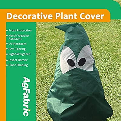 AgfabricPlantCoverFreeze Frost ProtectionBagH72''xW65'', 1.5oz, ShrubJacket for Cold Winter Weather : Garden & Outdoor