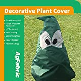 Agfabric Plant Cover Warm Worth Frost Blanket - 0.95 oz Fabric of 60''Hx51''W Shrub Jacket,Decorative Plant Cover for Season Extension&Frost Protection,Dark Green
