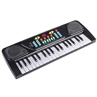 Fantiff - Teclado de aprendizaje musical para niños con educación temprana, juguetes de piano,