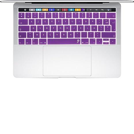 proelife 2016 Nuevo Francés Ultra Thin Sticky cubierta de teclado de silicona para MacBook Pro 13