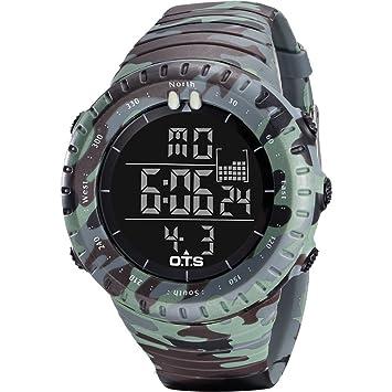 Tsutou Reloj Deportivo Digital Deportivo para Hombre Reloj retroiluminado a Prueba de Agua para Hombres (Color : Light Camo): Amazon.es: Hogar
