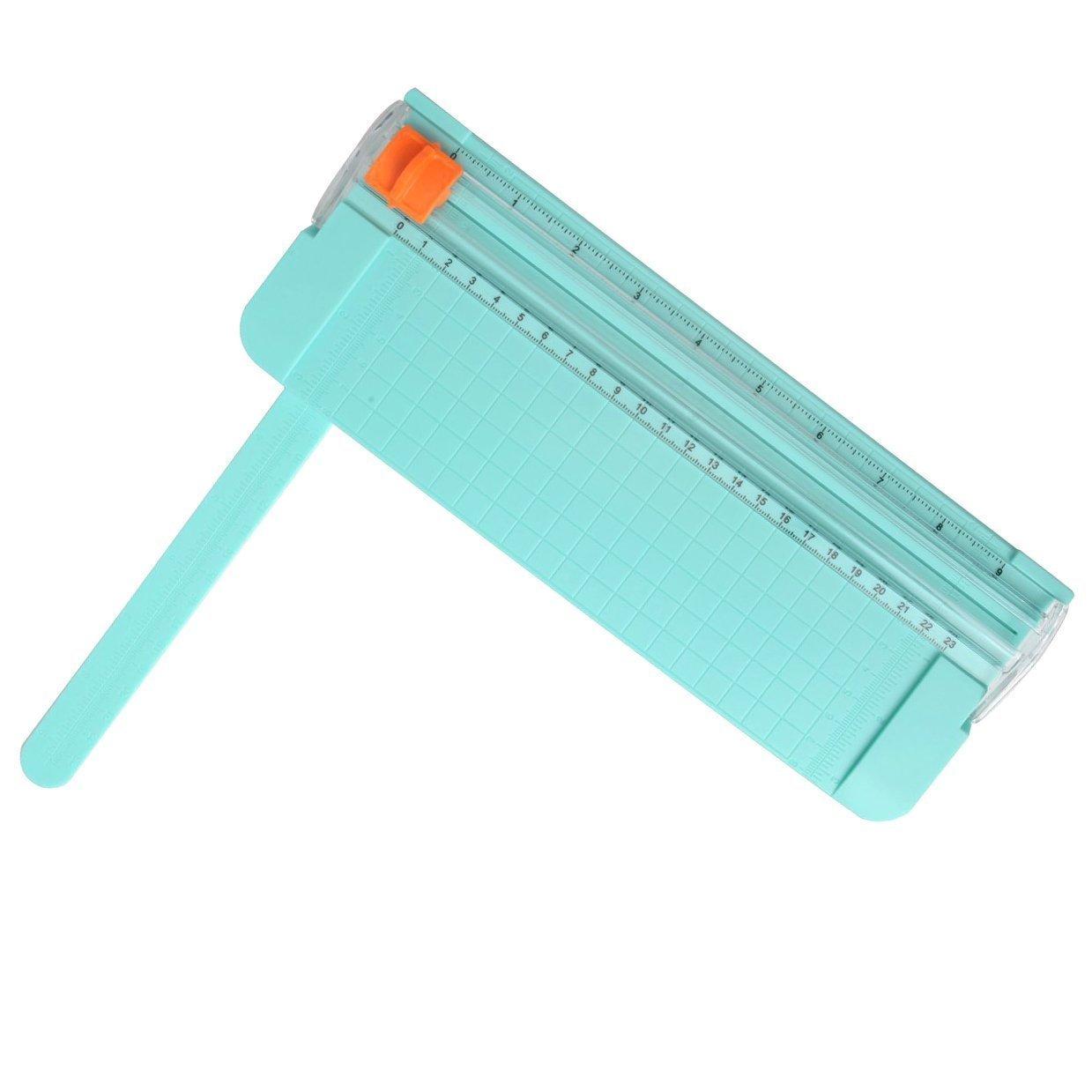 A5 zuf/ällige Farbe Cosprof Papierschneidemaschine tragbar mit Fingerschutz und Schieber-Lineal