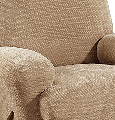Sure Fit Stretch Royal Diamond 1-Piece - Recliner Slipcover - Gold