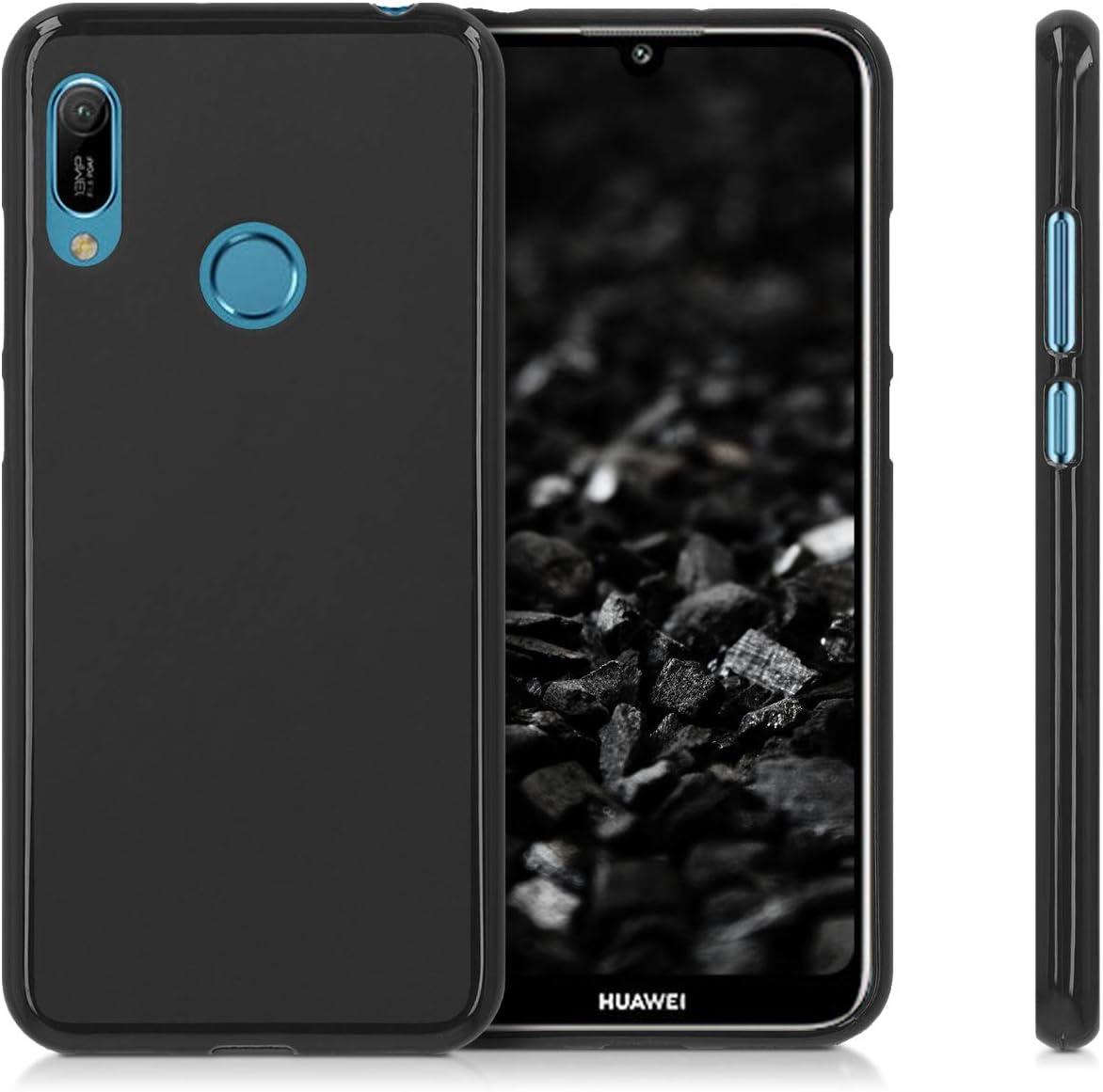 - Coque pour Huawei Y6 - Housse de t/él/éphone en Silicone dor/é-Gris-Transparent 2019 2019 kwmobile Coque Huawei Y6