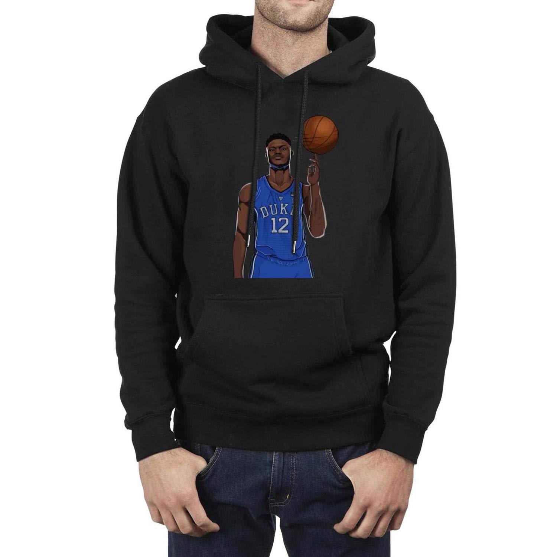 5a7695834 Amazon.com: Mens Black Hooded Basketball Sweatshirt Classic Kangaroo ...