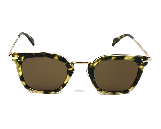 8dc0a51783201 Amazon.com  Celine 41402S J1LA6 Black Gold Print 41402S Square Sunglasses  Lens Category  Celine  Clothing