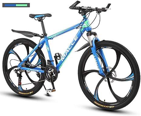 Unisex Bicicleta De Montaña De 26 Pulgadas, Bicicleta De Cuadro con Freno De Disco Doble, Asiento Ajustable, MTB para Hombre Mujer 21/24/27 De Velocidad Mountain Bike: Amazon.es: Deportes y aire libre