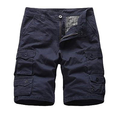 VPASS Pantalones Hombre, Verano Pantalones Casual Moda Trabajo ...