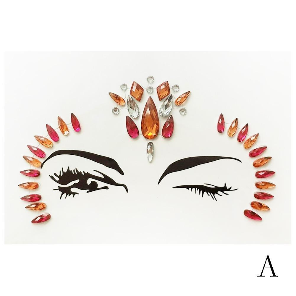 Gracefulvara Beauty Traditional Halloween Sticker Tattoos For Face Amp Body 1#