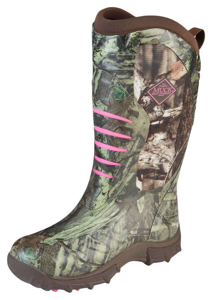 Muck Boot Womens Pursuit Stealth Hunting Shoes, Realtree/Pink, 11 M US