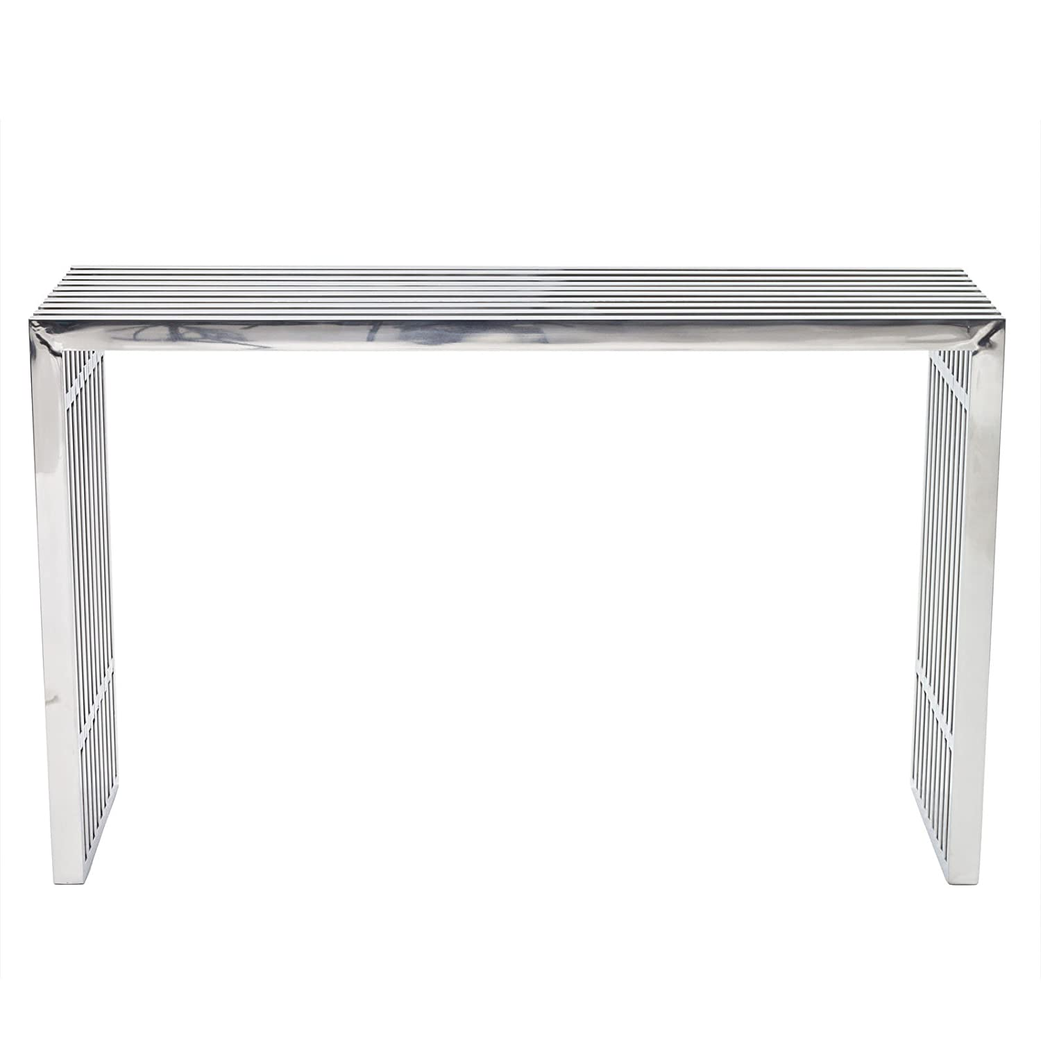 Amazon Modway Gridiron Stainless Steel Console Table Kitchen