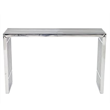 Genial Modway Gridiron Contemporary Modern Stainless Steel Console Table
