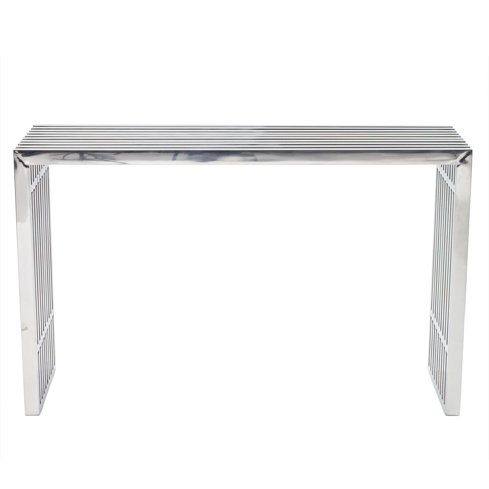 Modway Gridiron Stainless Steel Console Table
