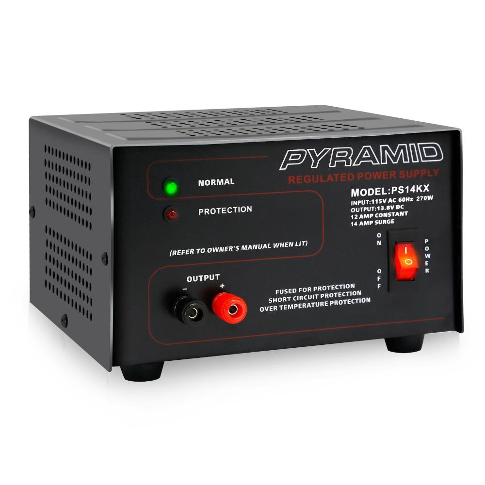 Pyramid Bench Power Supply | AC-to-DC Power Converter | 12 Amp Power Supply (PS14KX)