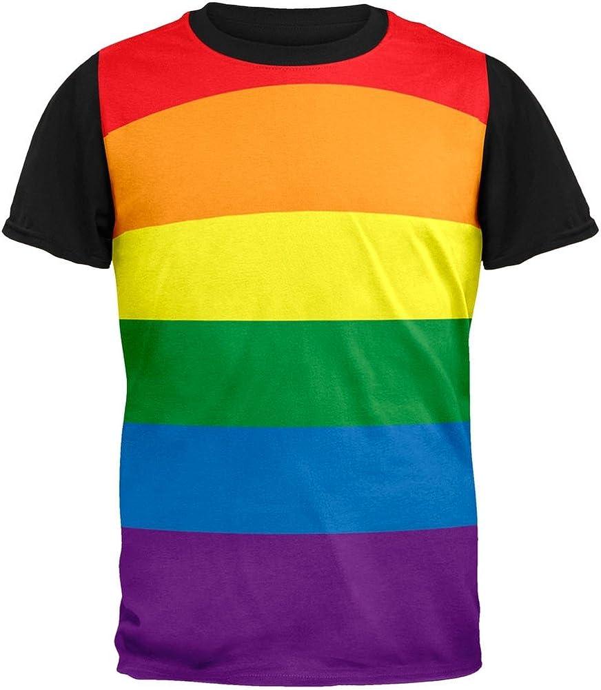 LGTB Arco Iris Orgullo Gay Bandera Adulto Espalda Camiseta Negra-X-Grande: Amazon.es: Ropa y accesorios