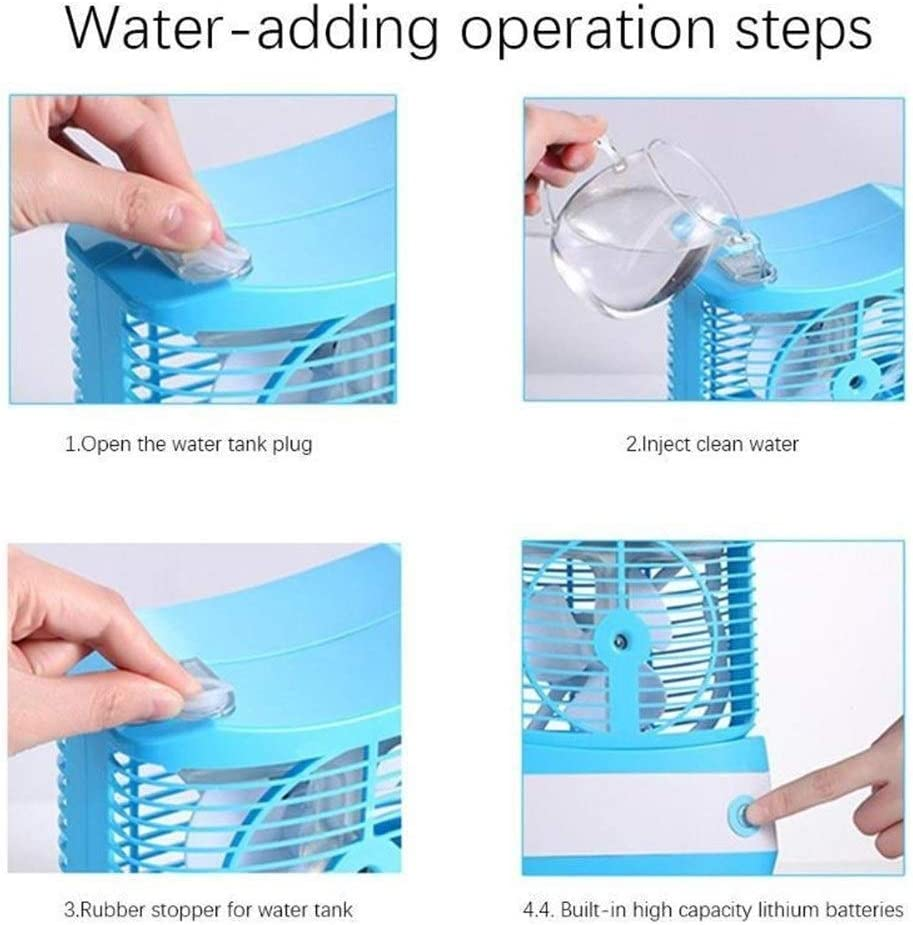 Mini Portable Cooling Fan Mini USB Fan Cooler Summer Air Cooling Fan Portable for Home Office Color : Blue