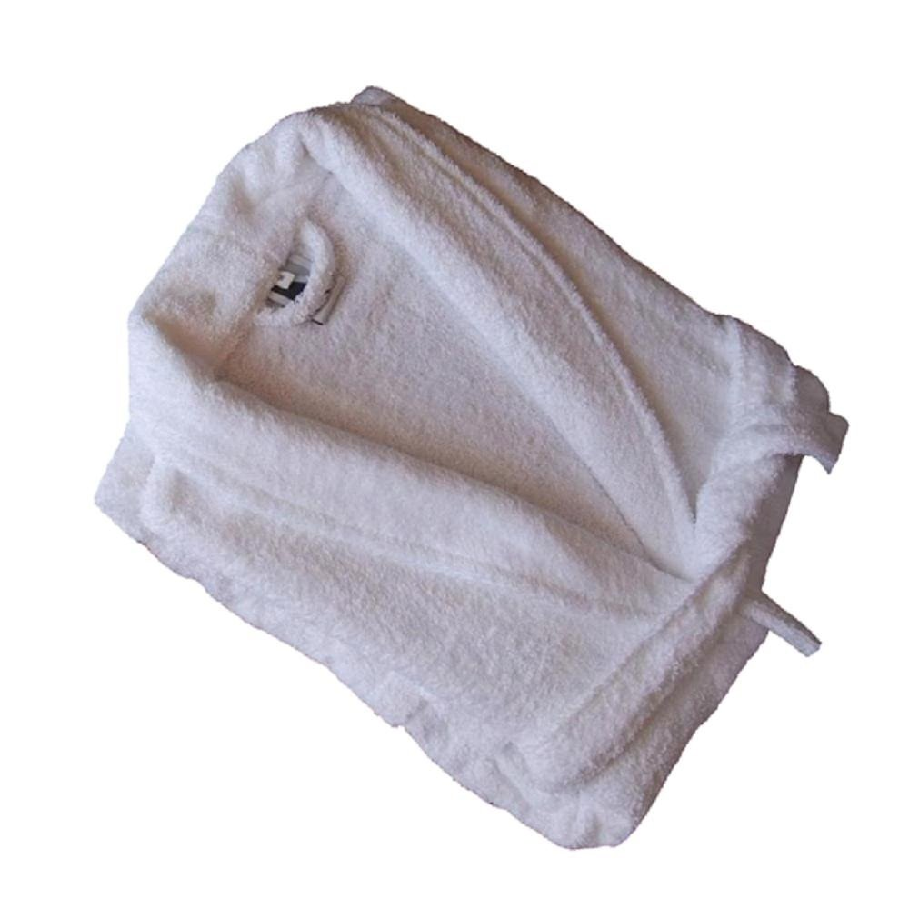 Home Basic Kids - Albornoz con capucha para niños de 14 años, color blanco: Amazon.es: Hogar