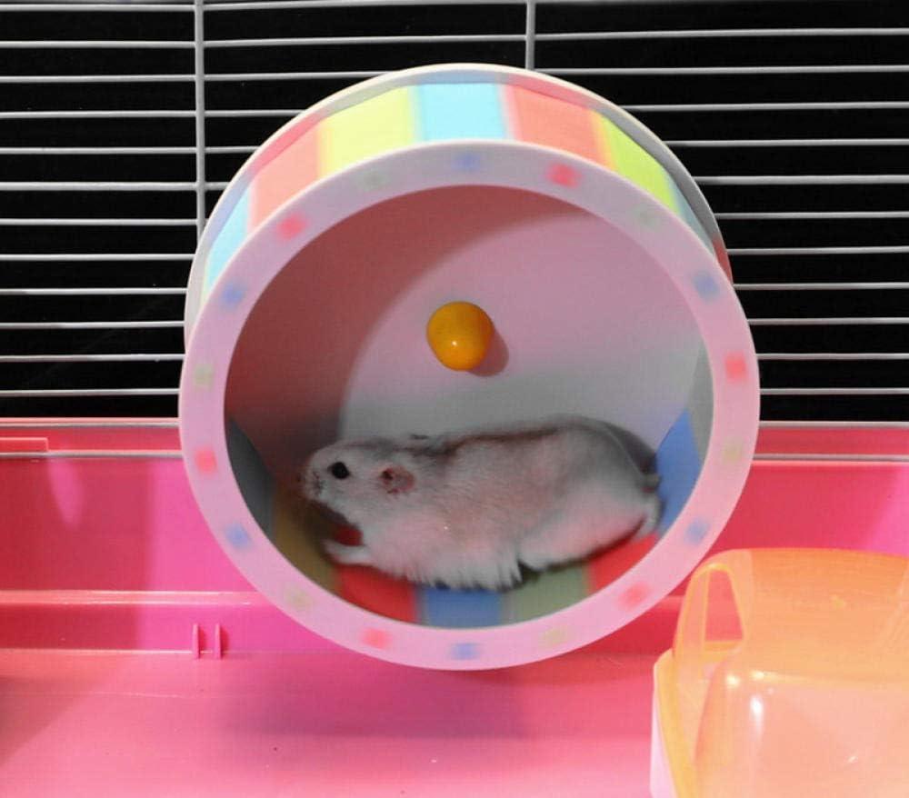 Casa para ratoncillos y peque/ños roedores Estructura en Varios Niveles PETAMANIM Jaula para h/ámsteres Accesorios incluidos