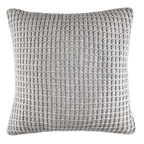 Nautica Basic Gray Knit 16-inch Decorative Pillow, 16 inch Dec Pillow, ()