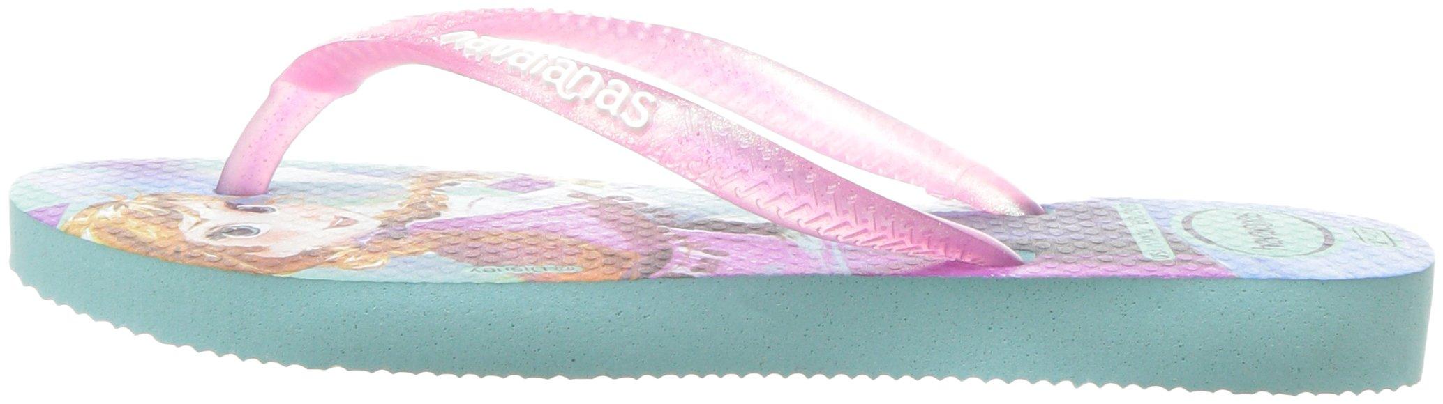 Havaianas Girls Slim Flip Flop Sandals, Kids, Frozen, Elsa & Anna,Green/Pink,25/26 BR (10 M US Toddler) by Havaianas (Image #5)