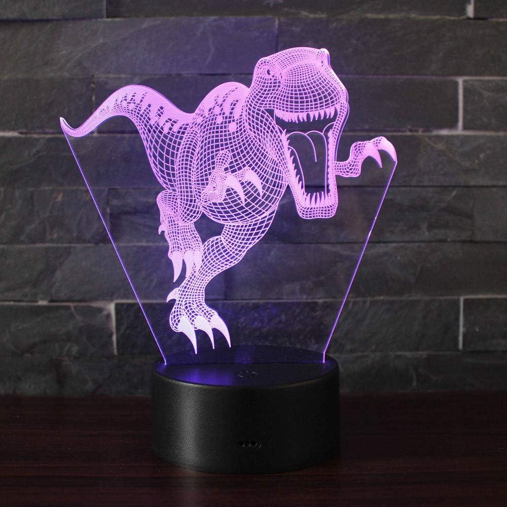 3D Lámpara de Escritorio Win-Y LED 7 del tacto del color de la lámpara del dormitorio del hogar decoración de la oficina para los niños y regalo de Navidad de cumpleaños (Dinosaurios A1)