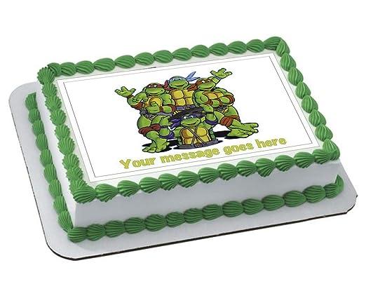 Decoración comestible para tarta con diseño de tortugas ...