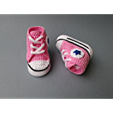 Crochet Pattern baby Converse All Star, baby sneakers (English Edition)