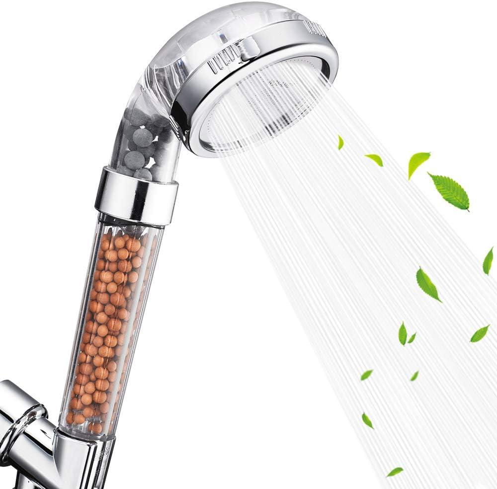 Portable High Pressure Mini Negative Ion Filter Shower Head Water Saving Nozzle