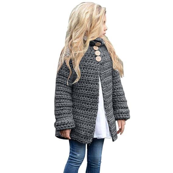 e0a11ba772 kleinkind kinder mädchen lange ärmel outfit kleidung aus wolle button  pullover strickjacke winter kleine prinzessin mantel