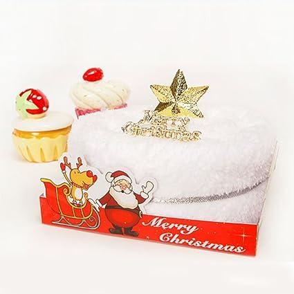 dckr toalla de microfibra para tartas de color crema diseño de Navidad x mas regalo único
