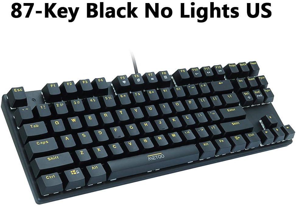 HUOGUOYIN Gaming Keyboard Gaming Mechanical Keyboard 87//104 Keys Russian//English USB Wired LED Backlit Game Keyboards Blue//Red Switch for Computer Gamer Keyboard