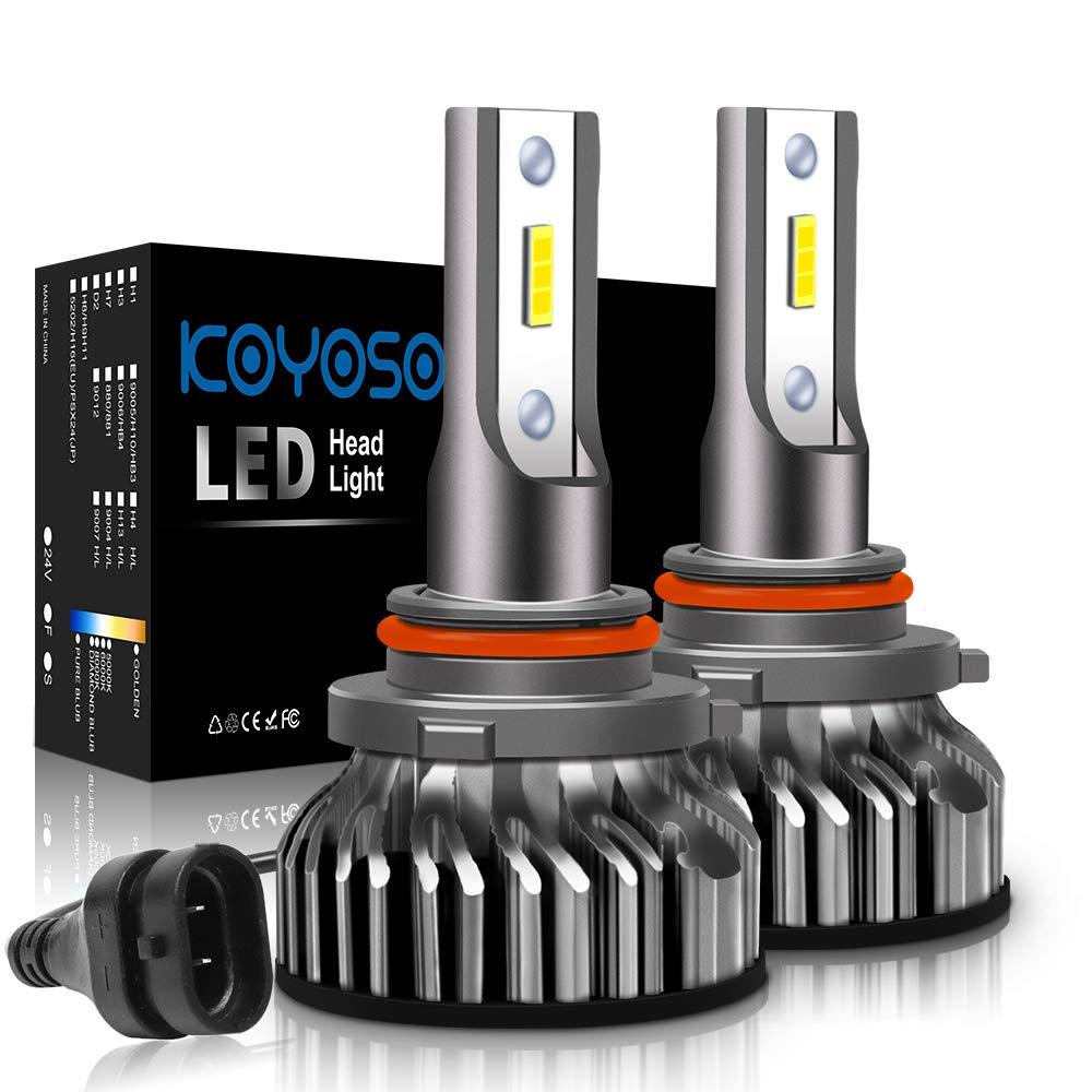 Lampadine 9005/HB3 LED 10000LM, Kit Lampada Sostituzione per Alogena Lampade e Xenon Luci, Fari Abbaglianti o Anabbaglianti per Auto, 12V-24V, 6000K Bianco GUANG ZHOU MING WAN DIAN ZI CO. LTD