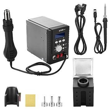 Estación de soldadura eléctrica, estación de soldadura digital con soldador, estación de soldadura de temperatura ajustable para reparación de teléfonos ...