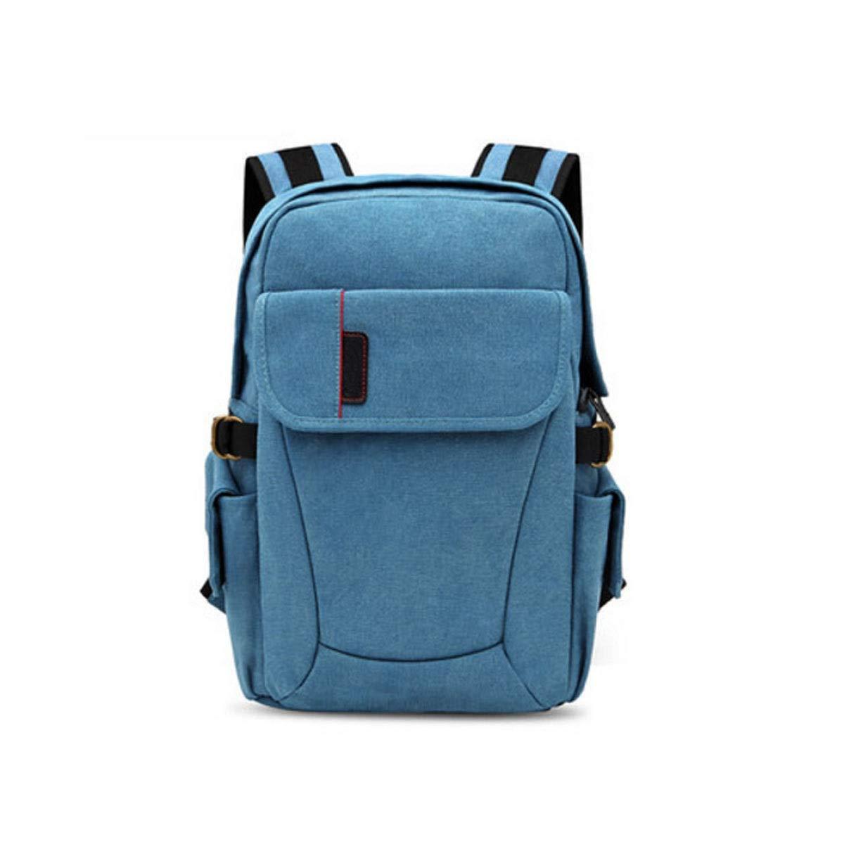 カメラバッグ、メンズ、レディースユニバーサルキャンバスカメラバッグ、ユースファッションスタイルバックパック、ピンクトランペット (Color : Blue trumpet) B07R3ZH9DM