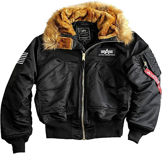 alpha industries jacke mit fell