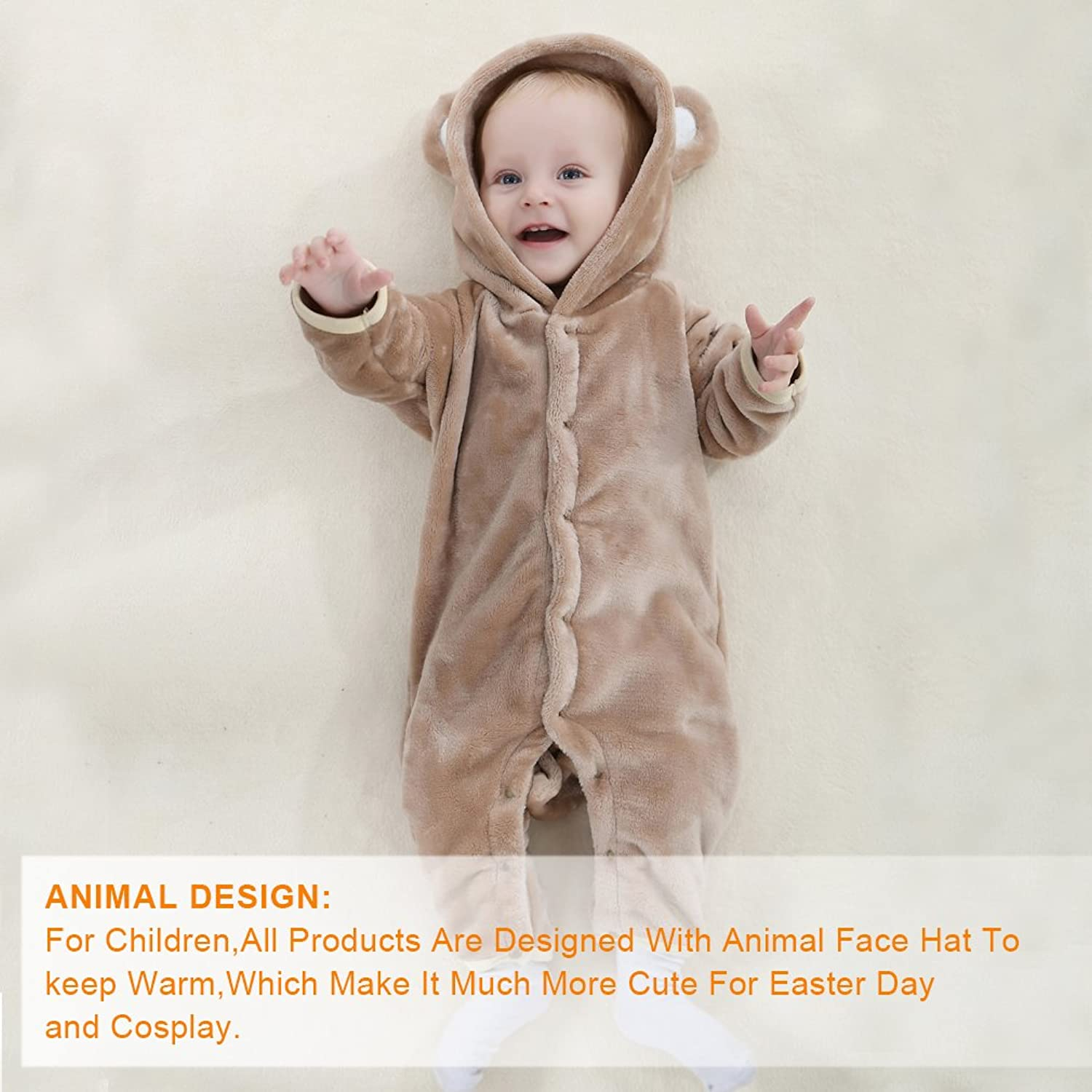 12a4e8d8ccb9 Bingua.com - Michley Baby Girls Boys Romper Bear Style Jumpsuit ...