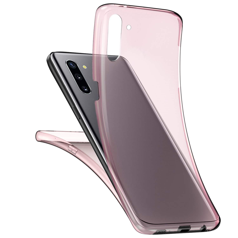 Herbests Kompatibel mit Samsung Galaxy Note 10 H/ülle Silikon 360 Grad Full Body Cover Transparent TPU Silikon H/ülle Tasche Front Back Double Beidseitiger Cover Schutzh/ülle Handyh/ülle,Klar