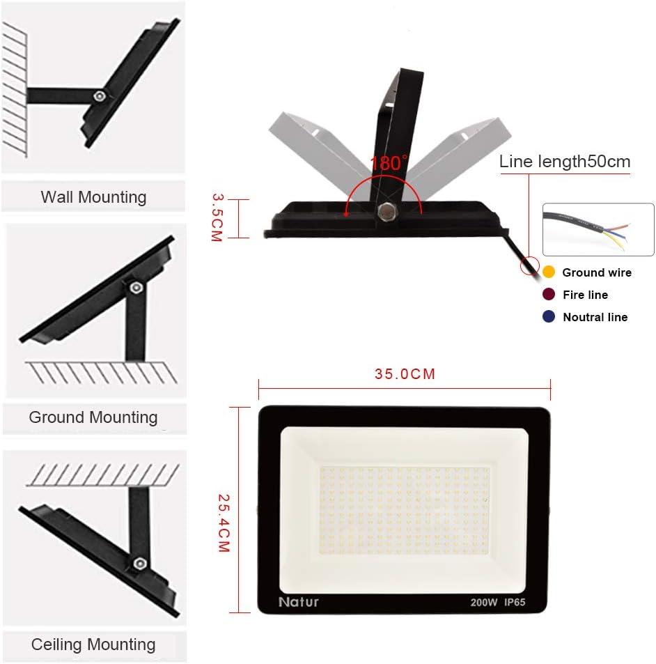 300W LED Foco exterior,Proyector Foco LED 6000K Blanco Fr/ío Impermeable IP65 Luces de Seguridad Floodlight Led para jard/ín,garaje,f/ábrica Clase de eficiencia energ/ética A++