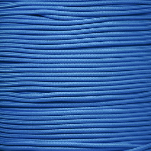 PARACORD PLANET 1/8 Inch Shock Cord - Choose from 10, 25, 50, and 100 Feet - Made in USA (Colonial Blue, 10 Feet) by PARACORD PLANET