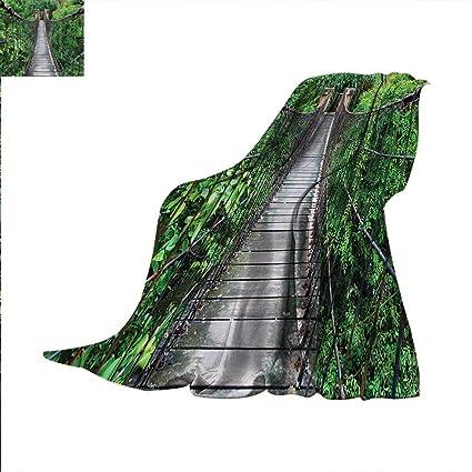 Amazon com: Jungle Weave Pattern Extra Long Blanket