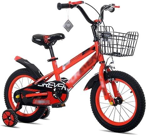 WJSW Bicicletas para niños y niñas Bicicletas 12/14/16/18 Pulgadas ...