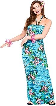 Señoras maxi orquídea vestido de océano Hawaiano (Disfraz ...