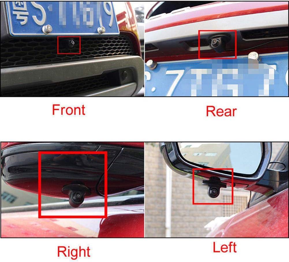 WyTosa Seitenansicht-Kamera Nachtsicht Loop-Aufnahme 12 V R/ückfahrkamera ohne Bohren,Universal Auto R/ückfahrkamera,Einparkhilfe Kamera,IP67 wasserdichte Frontkamera 120 Grad Weitwinkelobjektiv