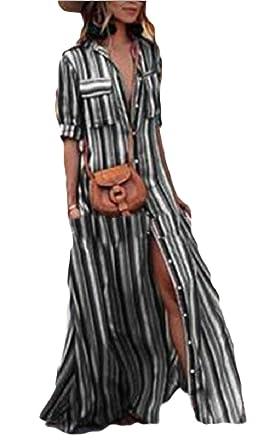 Tymhgt-MX La mujer es la mitad de manga larga camisa de rayas de colores